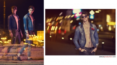 Men Fashion Test Bucharest at Night