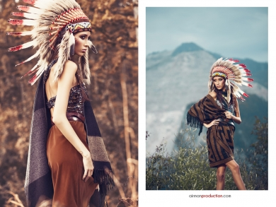 Editorial Indian Model Yasmina Catalin Muntean