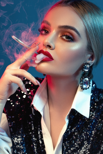 Smoke and Glitter beauty editorial catalin muntean